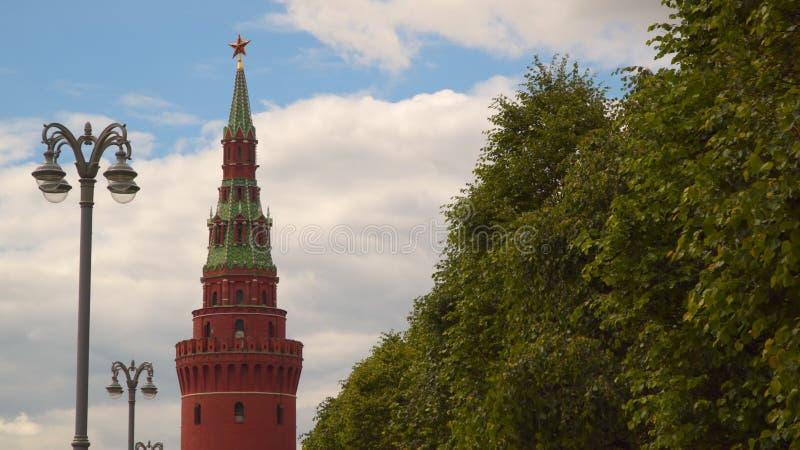 克里姆林宫的Vodovzvodnaya Sviblova塔 库存图片
