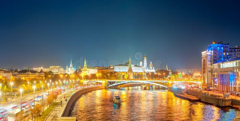 克里姆林宫莫斯科全景冬天 免版税图库摄影