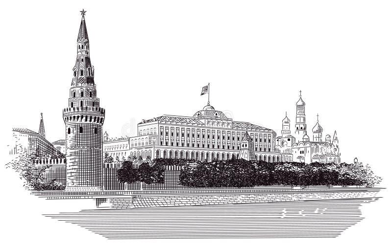 克里姆林宫莫斯科 皇族释放例证