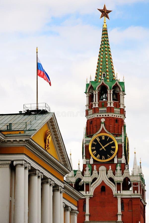 克里姆林宫莫斯科spasskaya塔 库存图片