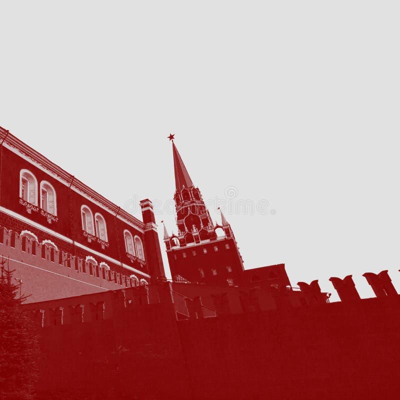 克里姆林宫,一个普遍的旅游地标的看法 科教文组织世界遗产站点 免版税库存照片