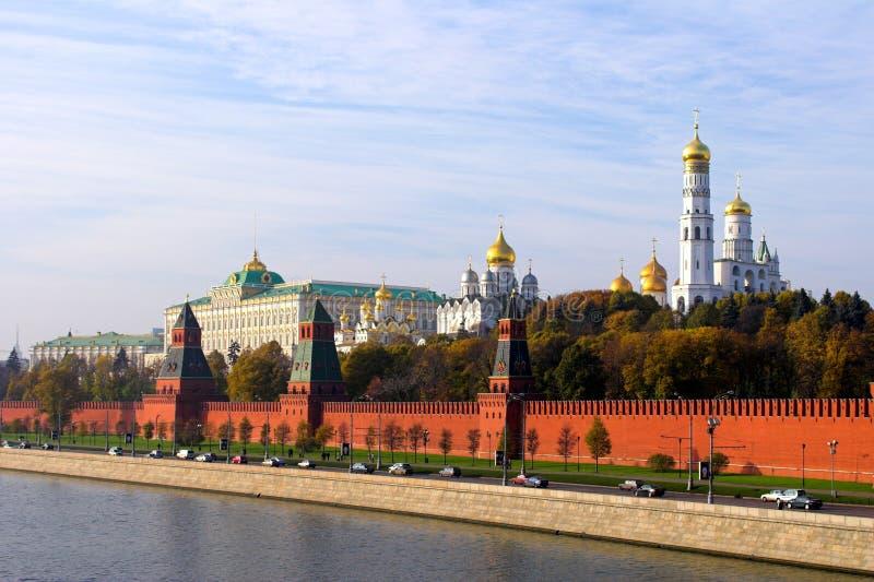 克里姆林宫moskva河墙壁 库存照片