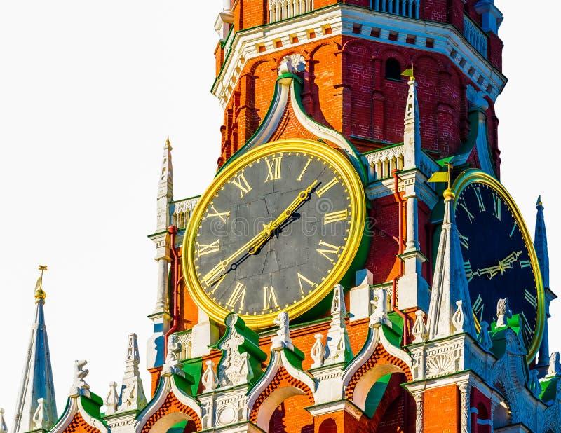 克里姆林宫Spasskaya塔编钟 免版税库存照片