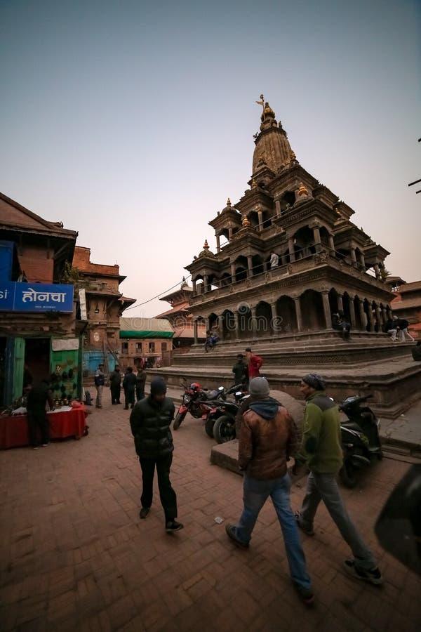 克里希纳寺庙在加德满都 免版税库存图片
