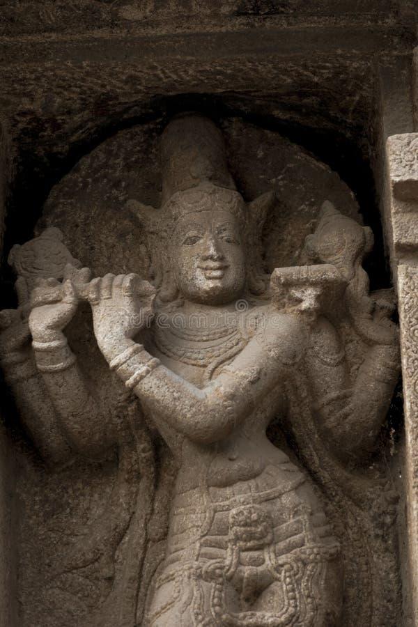 克里希纳Statue阁下Srirangam寺庙的 库存图片