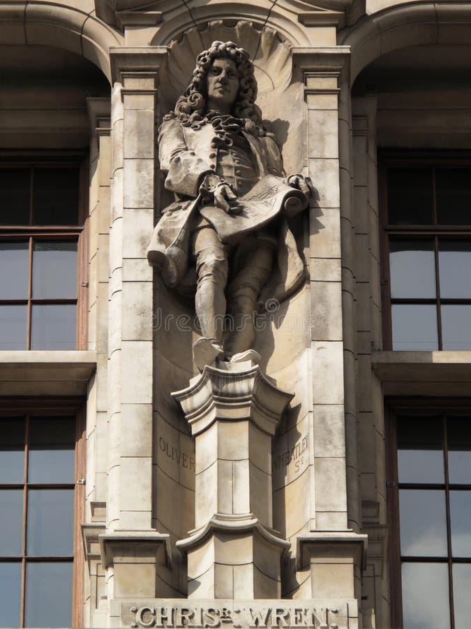 克里斯托弗先生雕象鹪鹩 免版税图库摄影