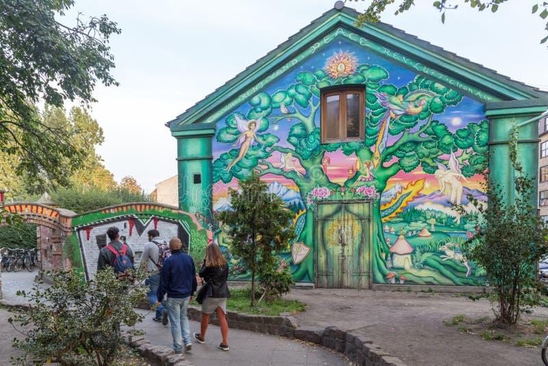 克里斯钦自由城在哥本哈根 图库摄影