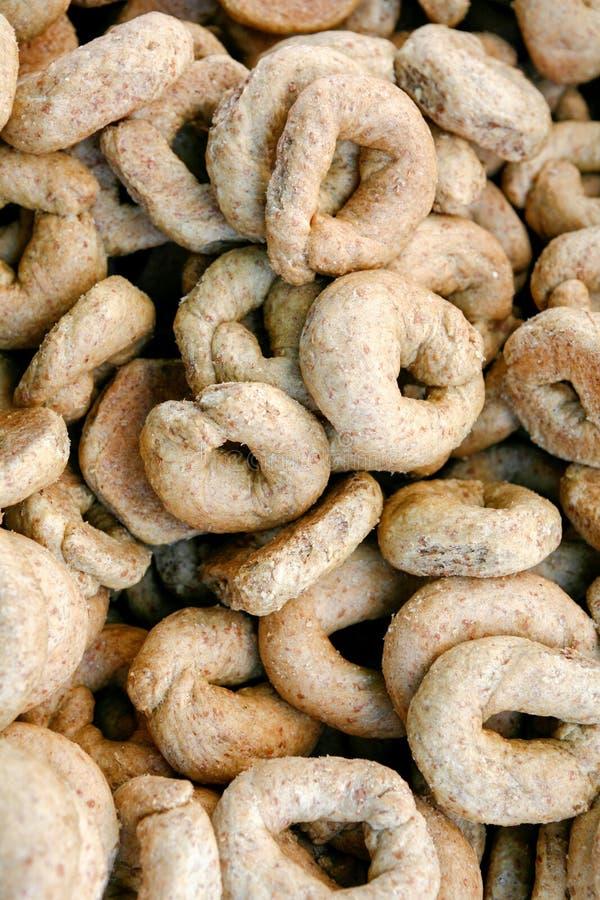 克里特岛大麦面包干 免版税库存图片