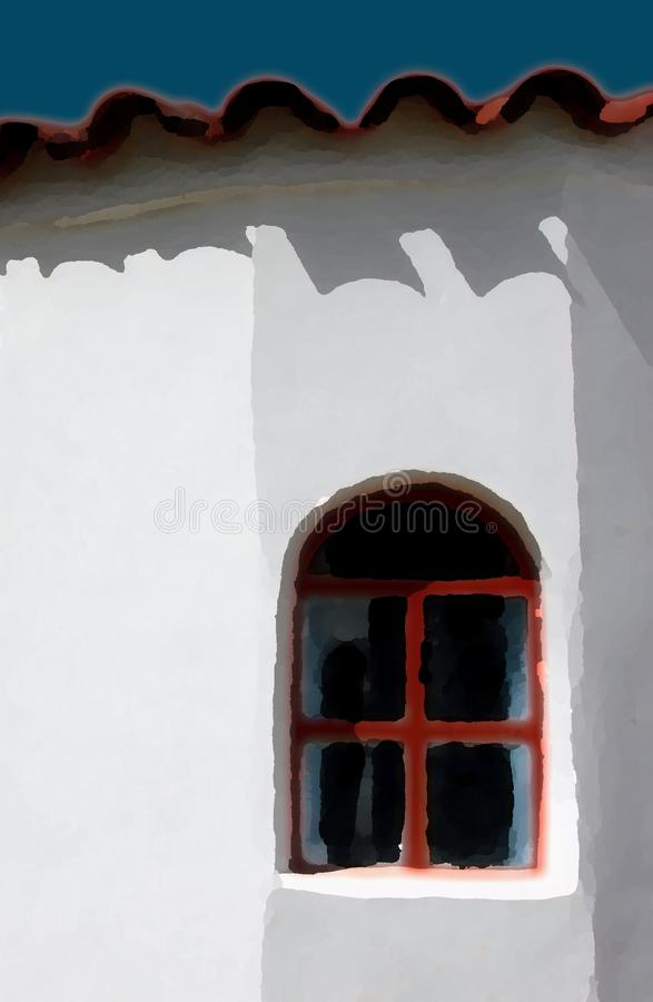 克里特岛房子 库存图片