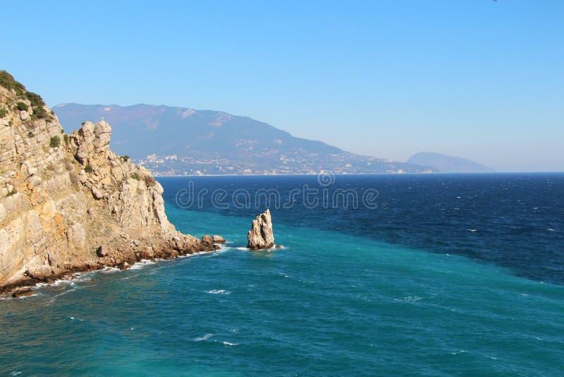 克里米亚半岛半岛海岸在雅尔塔附近的 免版税库存图片