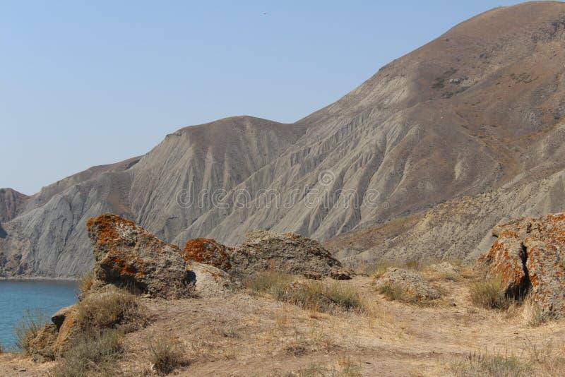 克里米亚半岛山在夏天 库存图片