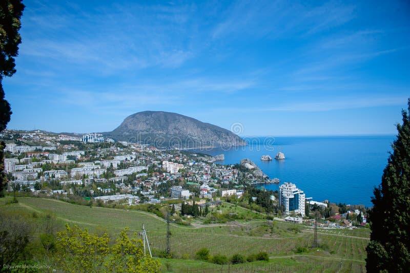 克里米亚半岛山风景  免版税图库摄影