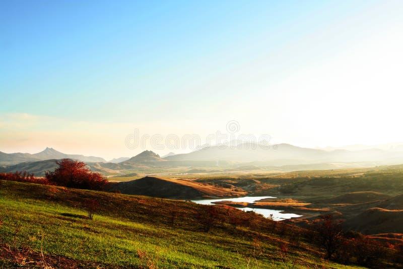 克里米亚半岛山 图库摄影