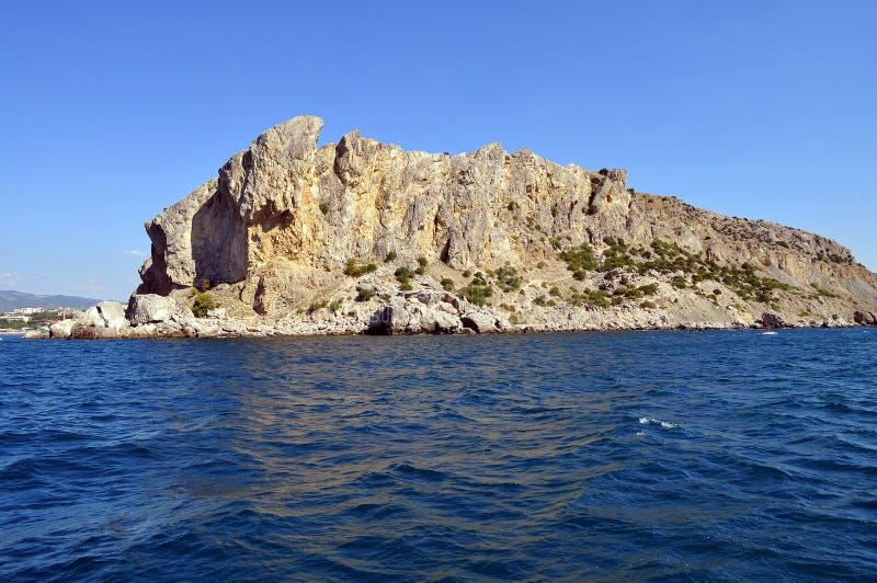 克里米亚半岛岩石 免版税库存照片