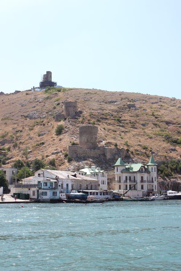 克里米亚半岛海湾巴拉克拉法帽 免版税库存照片