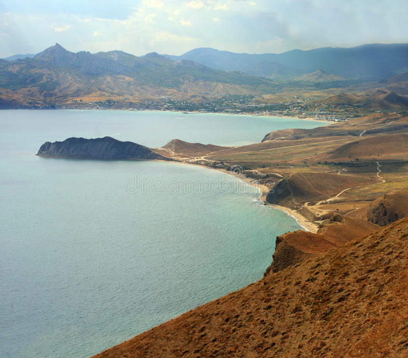 克里米亚半岛海滨 库存照片