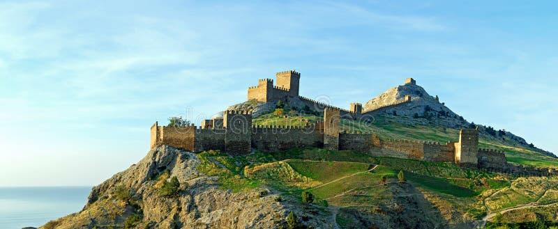 克里米亚堡垒sudak 免版税库存图片