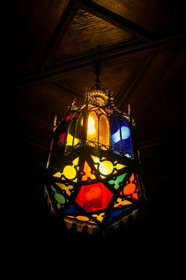 克里米亚沃龙佐夫宫殿内部色泽中国人灯笼 库存照片