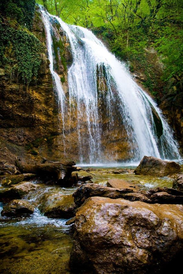 克里米亚瀑布 库存照片