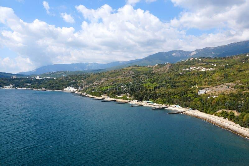 克里米亚的海岸 在Partenit附近村庄的海湾  库存图片