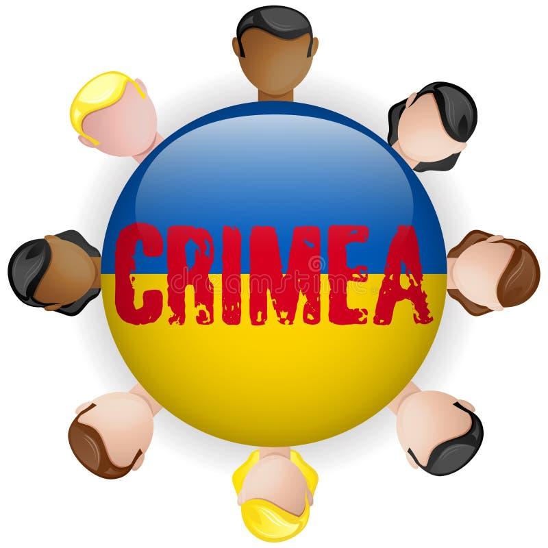 克里米亚象的乌克兰和俄罗斯冲突 皇族释放例证