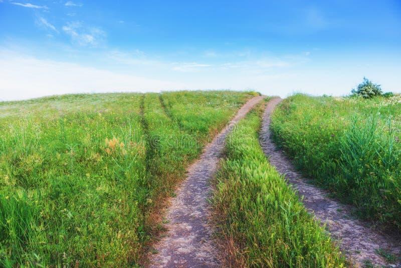 克里米亚,刻赤 自然保护-土路 远足风景公园 免版税图库摄影