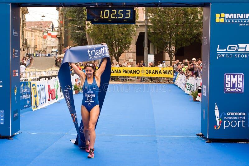 克雷莫纳ITU欧洲三项全能Sprint杯 免版税库存照片