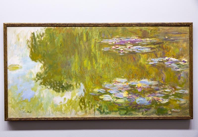 克洛德・莫奈-阿尔贝蒂娜博物馆博物馆的在维也纳 免版税库存照片