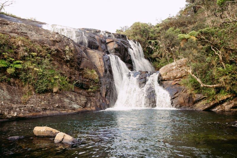 贝克` s在霍顿平原国家公园,斯里兰卡落 免版税图库摄影