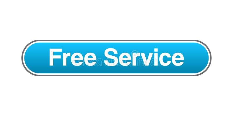 免费服务网按钮 皇族释放例证