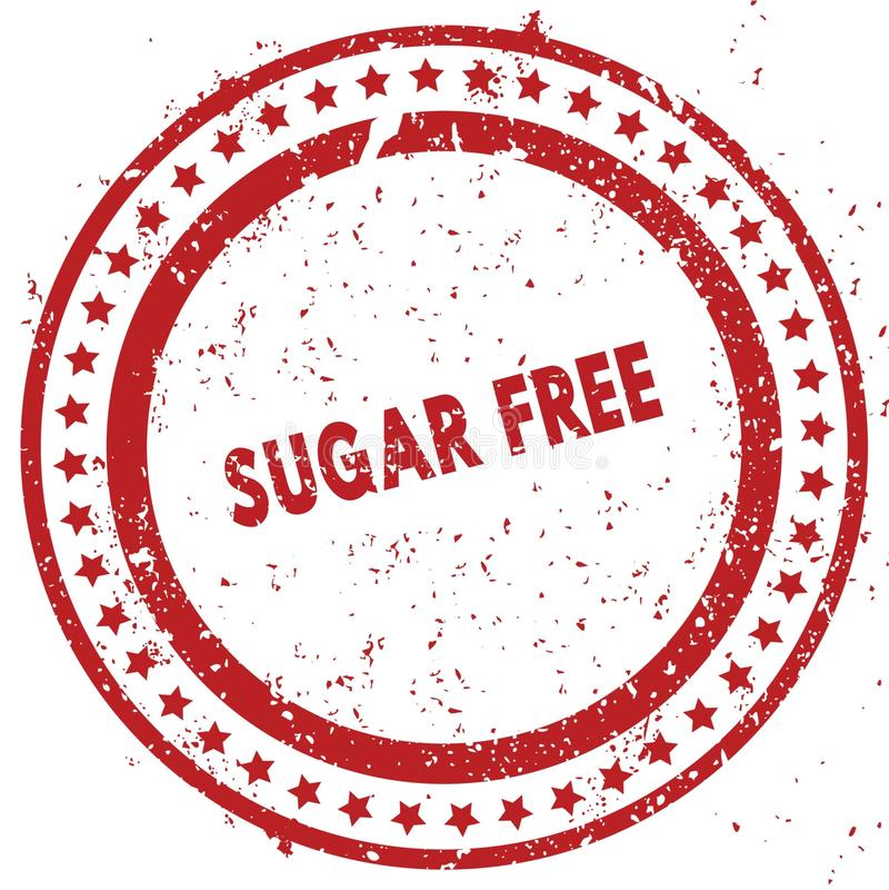 免费红色糖困厄了与难看的东西纹理的不加考虑表赞同的人 免版税库存图片