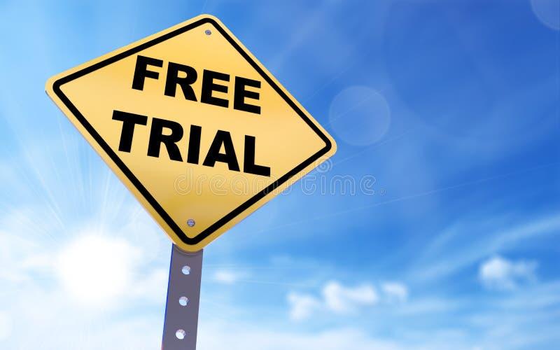 免费试用标志 向量例证