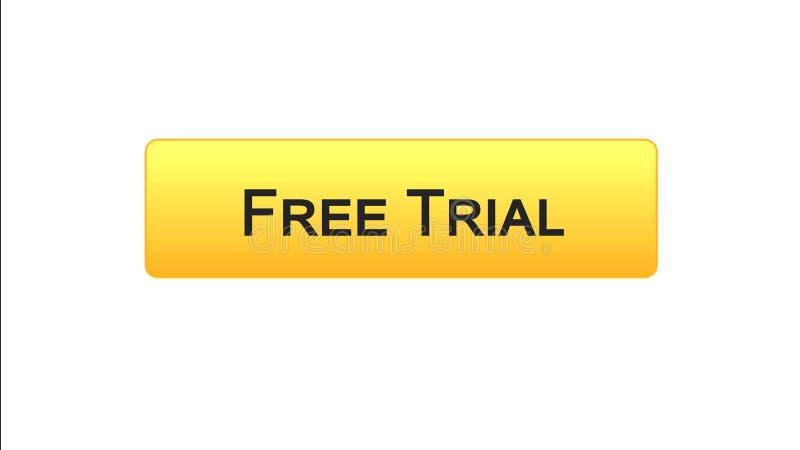 免费试用网接口按钮橙色颜色,应用广告,软件 库存例证