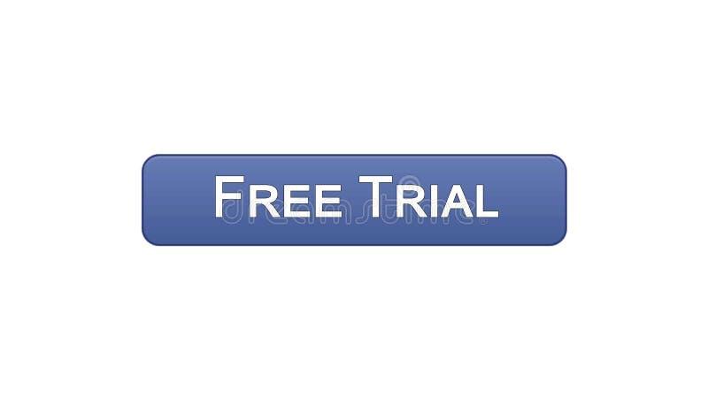免费试用网接口按钮紫罗兰色颜色,应用广告,软件 向量例证