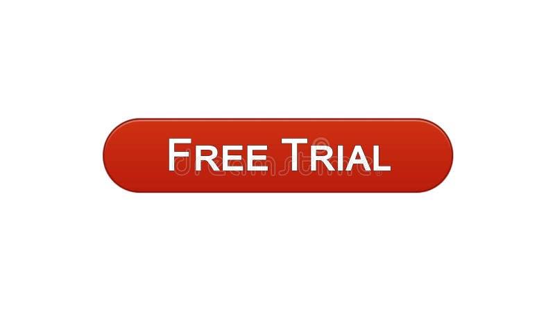 免费试用网接口按钮葡萄酒红颜色,应用广告软件 库存例证