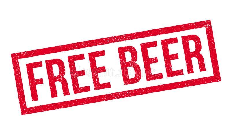 免费啤酒不加考虑表赞同的人 库存例证