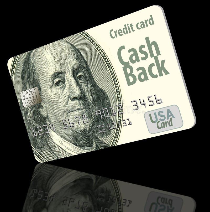 兑现是与普通商标的一个普通设计的后面信用卡 免版税库存照片