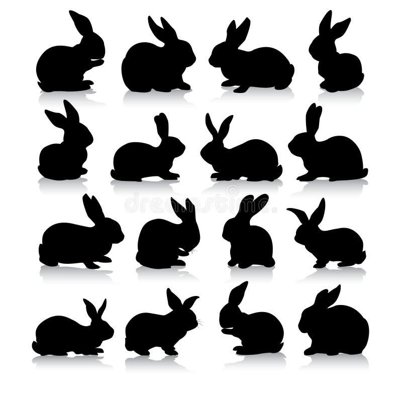 兔子剪影 库存照片