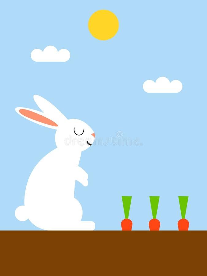 兔子和红萝卜 皇族释放例证