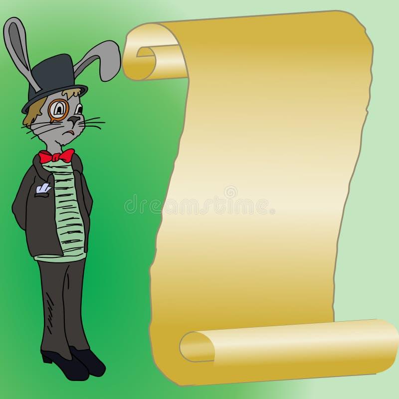 兔子和黑色高顶丝质礼帽 库存照片