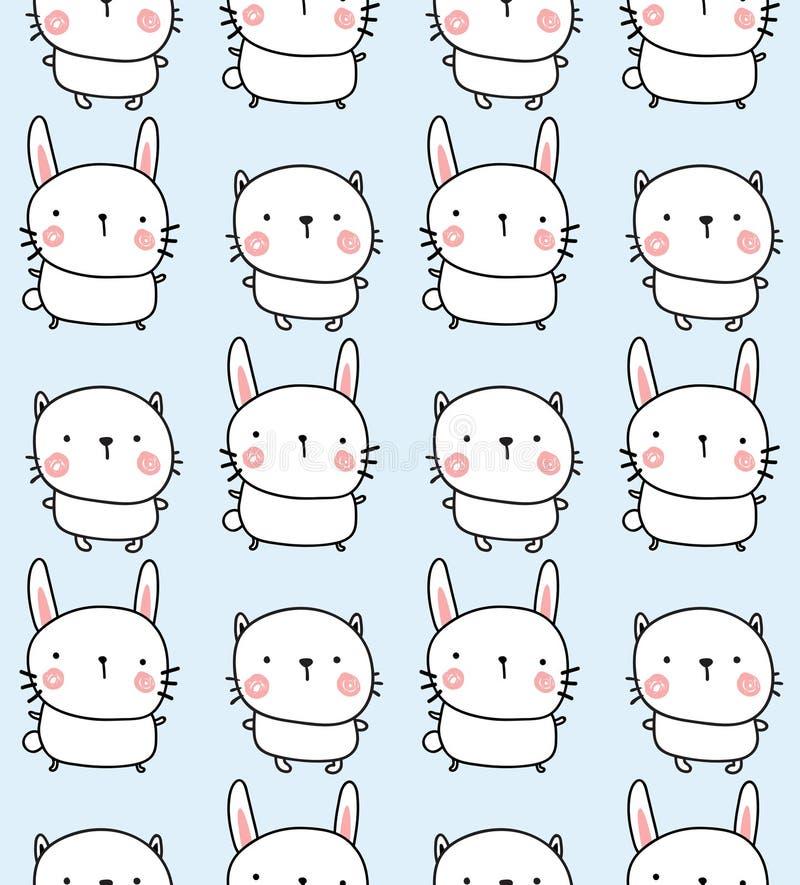 兔子和bunyn样式 向量例证