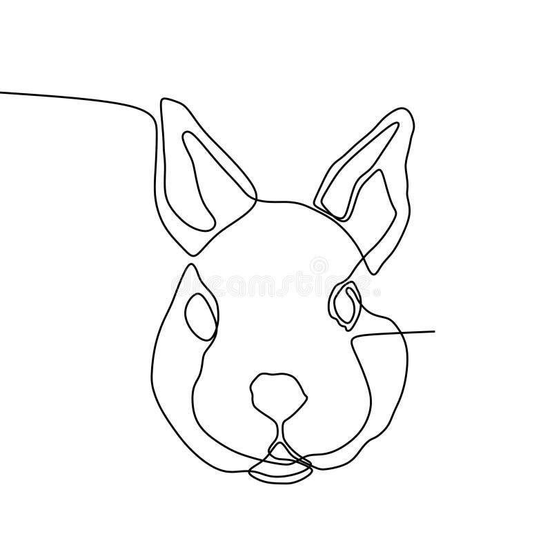 兔子头一线描 库存例证