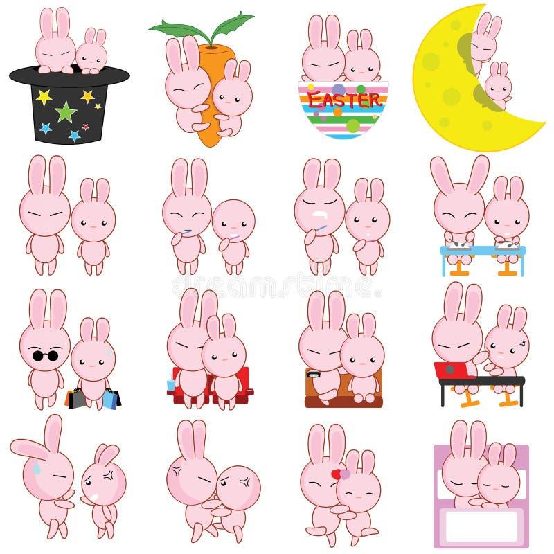 兔子漫画人物传染媒介 皇族释放例证