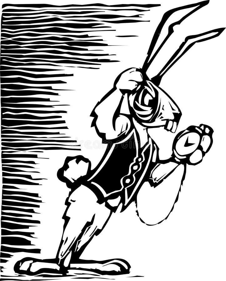 兔子白色 库存例证