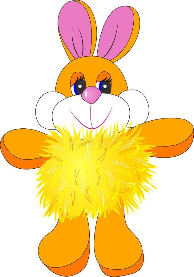兔子穿蓬松的夹克 库存图片