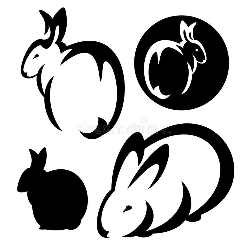 兔子设计集合 向量例证