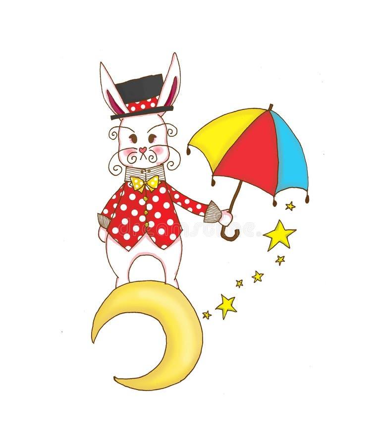 兔子魔术师 免版税库存图片