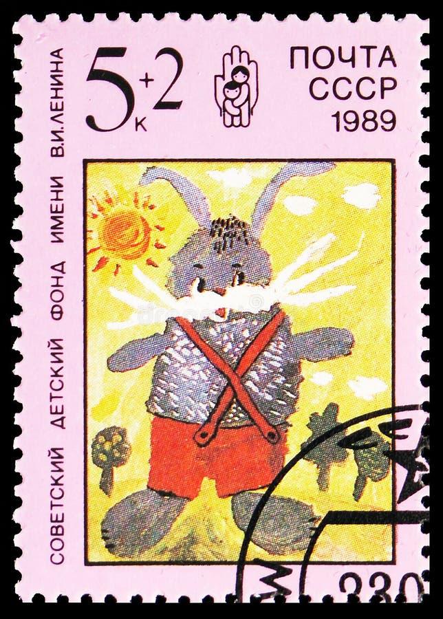 兔子,列宁儿童的资金serie,大约1989年 图库摄影