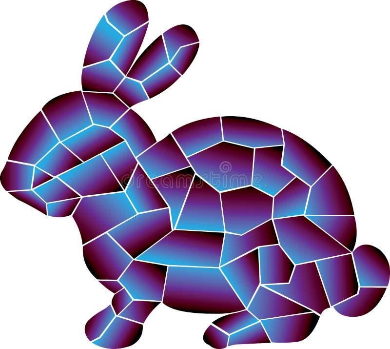 兔子,2种颜色是巨大组合 皇族释放例证