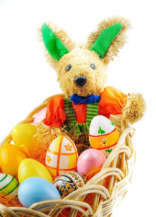 兔宝宝东部鸡蛋 免版税库存图片